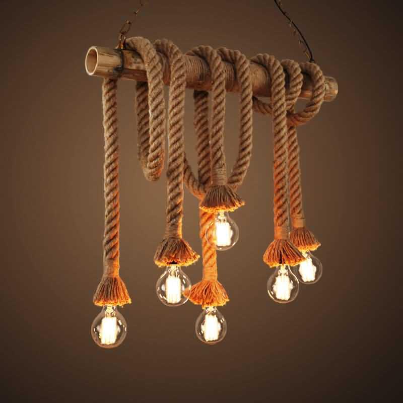 Zula Edison Rope Hanging Lamp