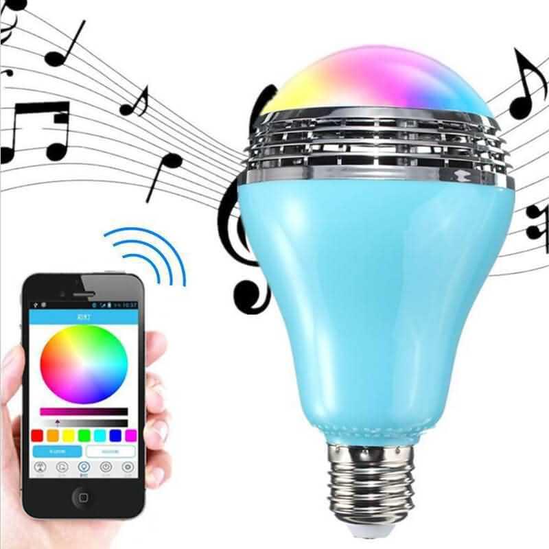 Bluetooth Music Speaker Led Color Bulb Bluetooth Music