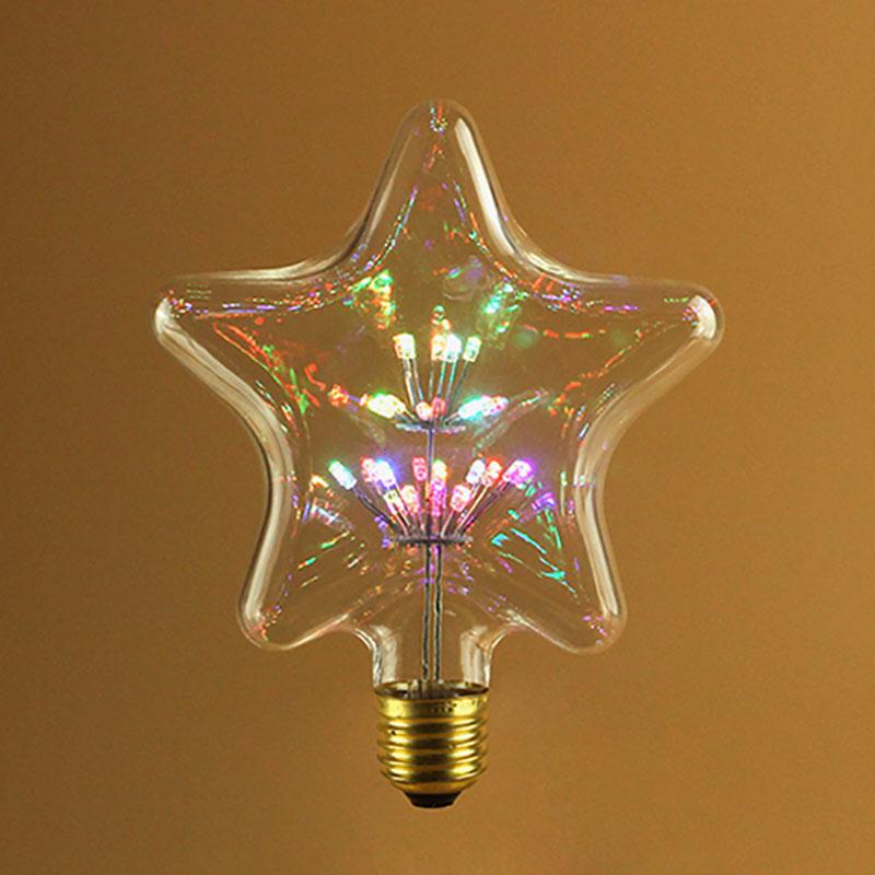 S125 Star Shape Led Fireworks Bulb China Star Shaped
